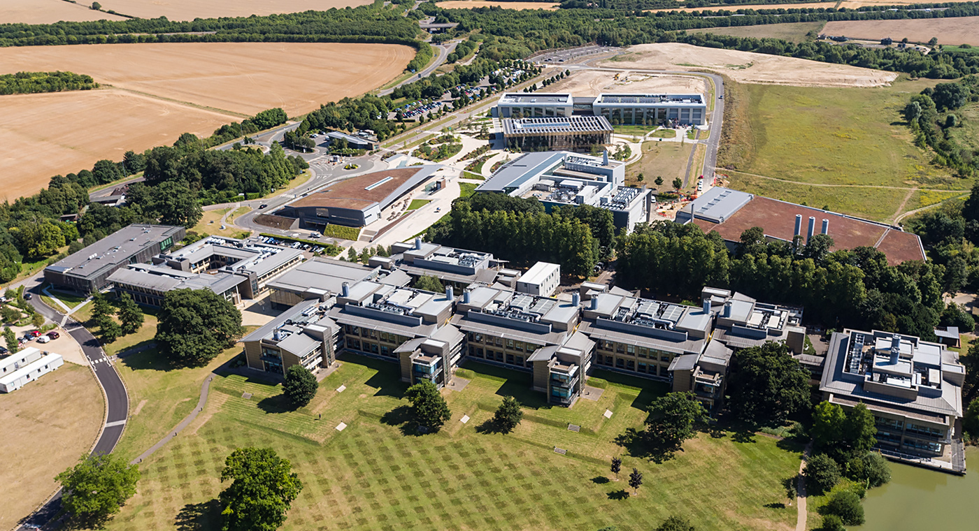 Wellcome Genome Campus view from the air