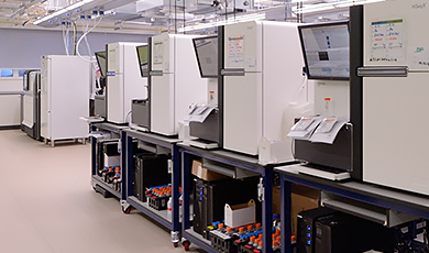 Genomics England sequencing facility lllumina