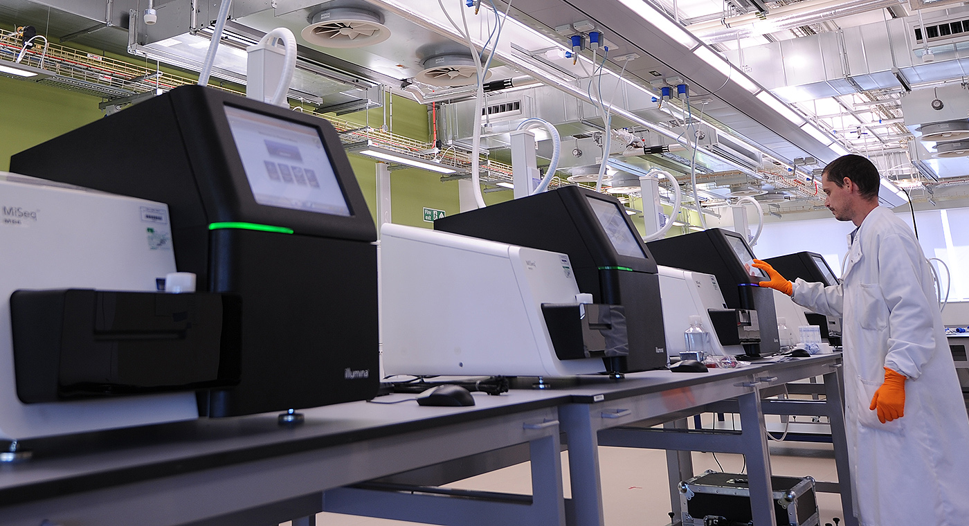 Sequencing facility at the Wellcome genome Campus, Science and Innovation, Illumina
