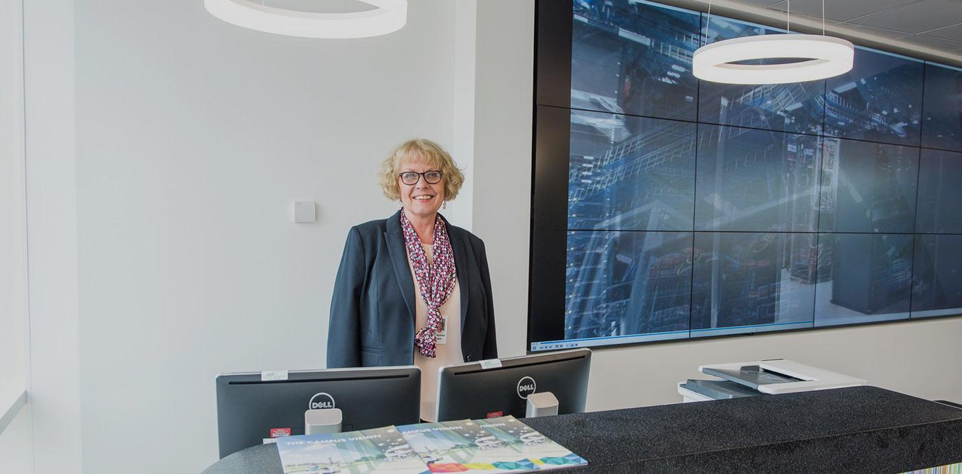 Reception at the BioData Innovation Centre, Wellcome Genome Campus