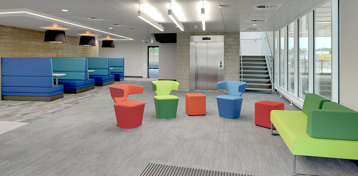 BioData Innovation Centre (BIC) reception area, entrance to the building