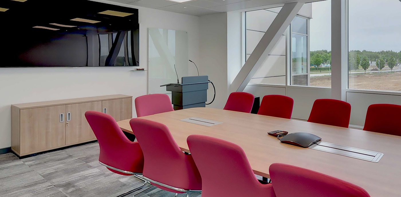 Board room, meeting room in the BioData Innovation Centre (BIC) facilities
