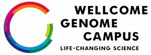 Wellcome Genome Campus PNG format logo with strapline