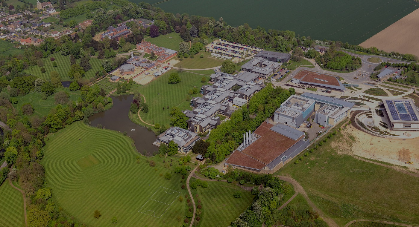 Aerial view of Wellcome Genome Campus