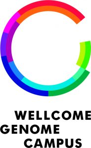 Wellcome Genome Campus portrait logo CMYK